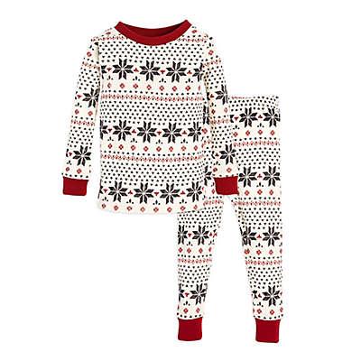 Burt's Bees Baby® 2-Piece Snowflake Holiday Pajama Set in Grey