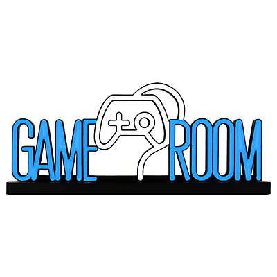 Mcs Novelty Gameroom LED Wall Sign in Black