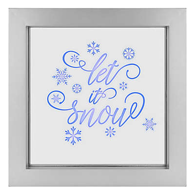 """""""Let It Snow"""" Illuminated LED 9.5-Inch Square Wall Art"""