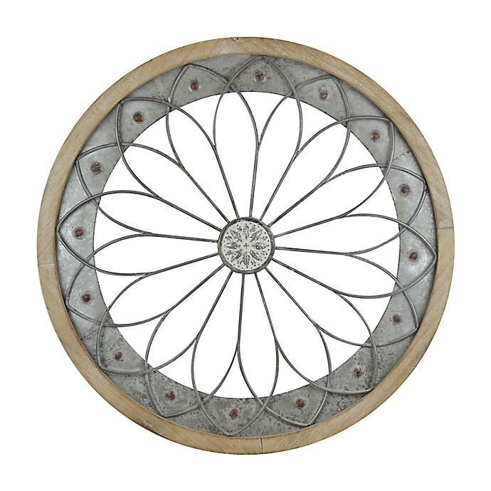Round Metal and Wood Wall Art | Bed Bath & Beyond