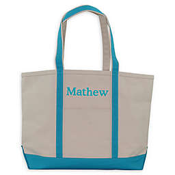 CB Station Large Boat Tote in Turquoise