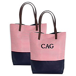 CB Station Seaport Stripes Dipped Tote Collection