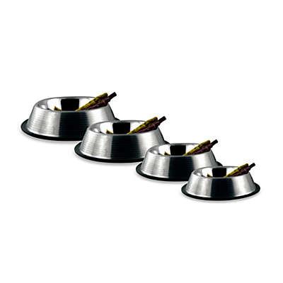 Bergan® Stainless Steel Non-Skid/Non-Tip Ridged Pet Bowls