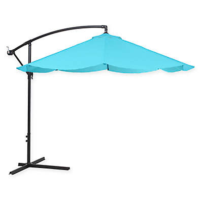 Pure Garden Cantilever Offset 10-Foot Hanging Patio Umbrella