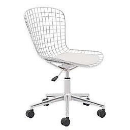 Zuo® Wire Office Chair in Chrome