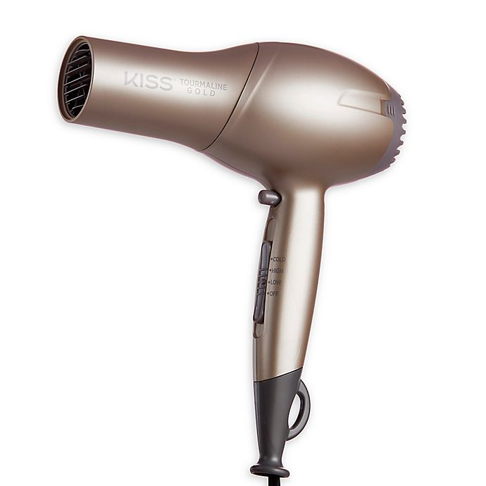 Alternate image 1 for Kiss® Tourmaline Gold Edition Hair Dryer in Gold