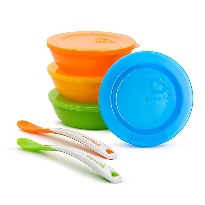 Alternate image 1 for Munchkin Love-a-Bowls™ 10-Piece Bowl and Spoon Set
