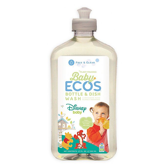 Alternate image 1 for Disney Baby® Baby ECOS® Free & Clear Bottle and Dish Cleaner