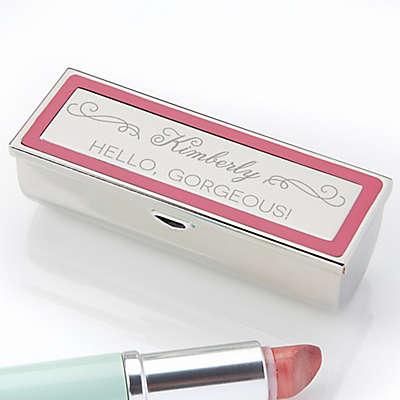 Makeup Motto Engraved Lipstick Case