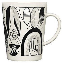 Iittala Graphics Shaped Mug in Black/White