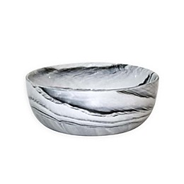 Artisanal Kitchen Supply® Coupe Marbleized Cereal Bowl in Black/White