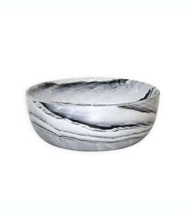 Tazón Artisanal Kitchen Supply® Coupe con diseño de mármol en blanco/negro