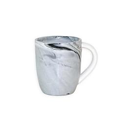 Artisanal Kitchen Supply® Coupe Marbleized Espresso Mug in Black/White