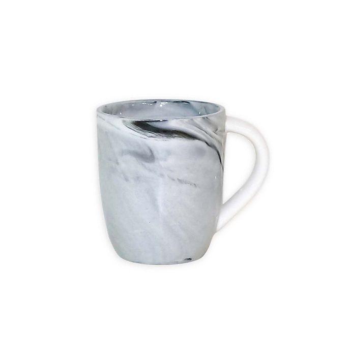 Alternate image 1 for Artisanal Kitchen Supply® Coupe Marbleized Espresso Mugs in Black/White