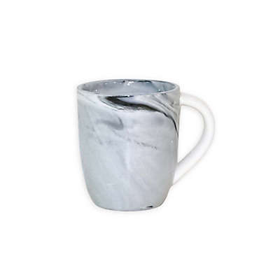 Artisanal Kitchen Supply® Coupe Marbleized Espresso Mugs in Black/White