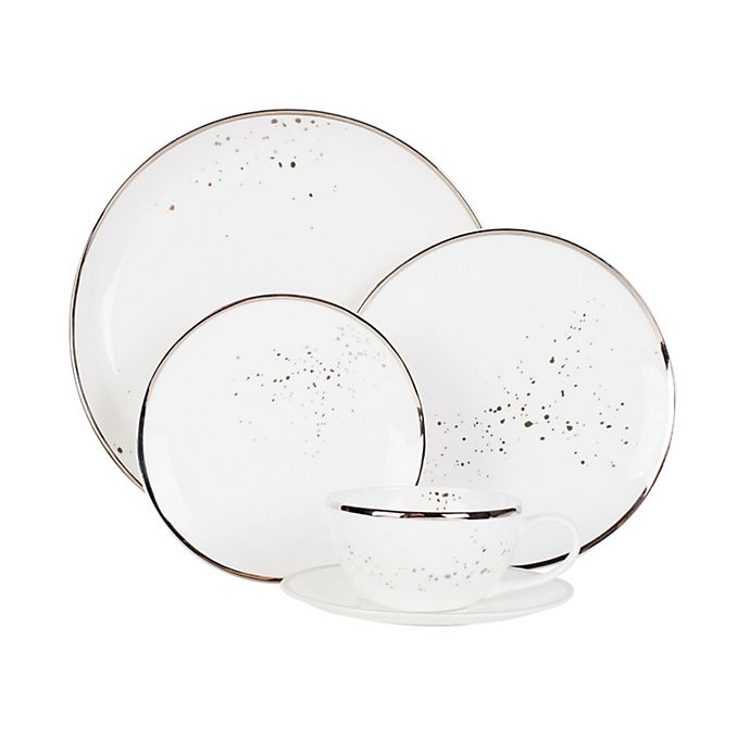 Alternate image 1 for Olivia & Oliver™ Harper Splatter Platinum Dinnerware Collection