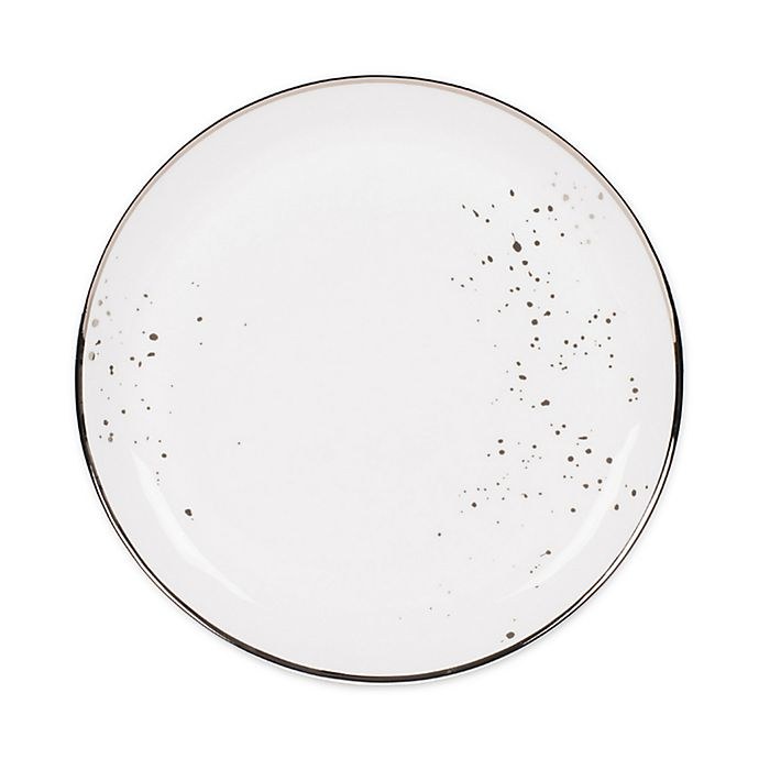 Alternate image 1 for Olivia & Oliver™ Harper Splatter Platinum Dinner Plate