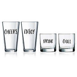 Novelty Word Glassware Collection