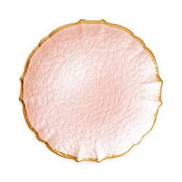 viva by VIETRI Pastel Glass Salad Plate in Pink