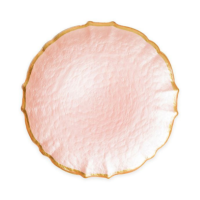 Alternate image 1 for viva by VIETRI Pastel Glass Salad Plate in Pink