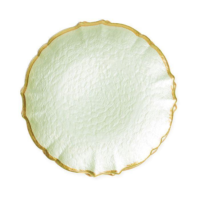 Alternate image 1 for viva by VIETRI Pastel Glass Salad Plate in Pistachio