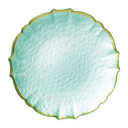 viva by VIETRI Pastel Glass Charger Plate in Aqua