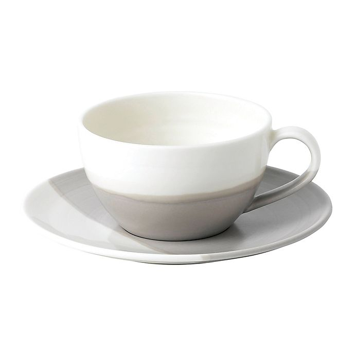 Alternate image 1 for Royal Doulton® Coffee Studio Cappuccino Cup and Saucer Set in Taupe