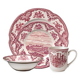 Johnson Brothers Old British Castles 4-Piece Place Setting in Pink