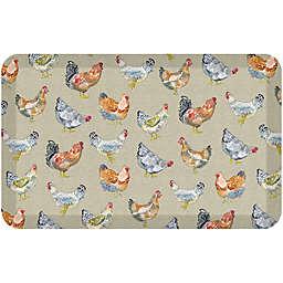 Gelpro® Chicken Run Kitchen Mat in Warm Stone