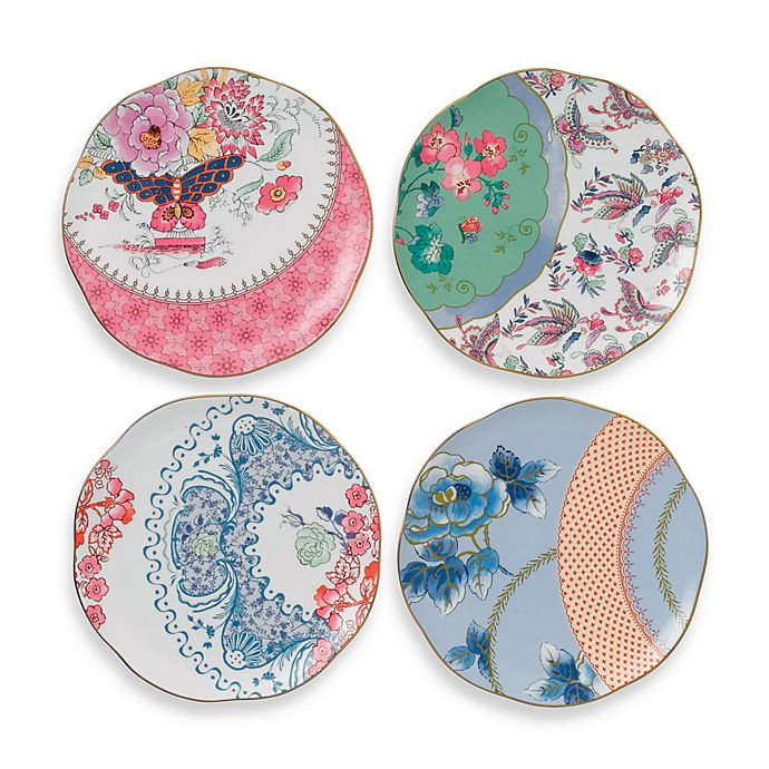 Alternate image 1 for Wedgwood® Butterfly Bloom Tea Plates (Set of 4)