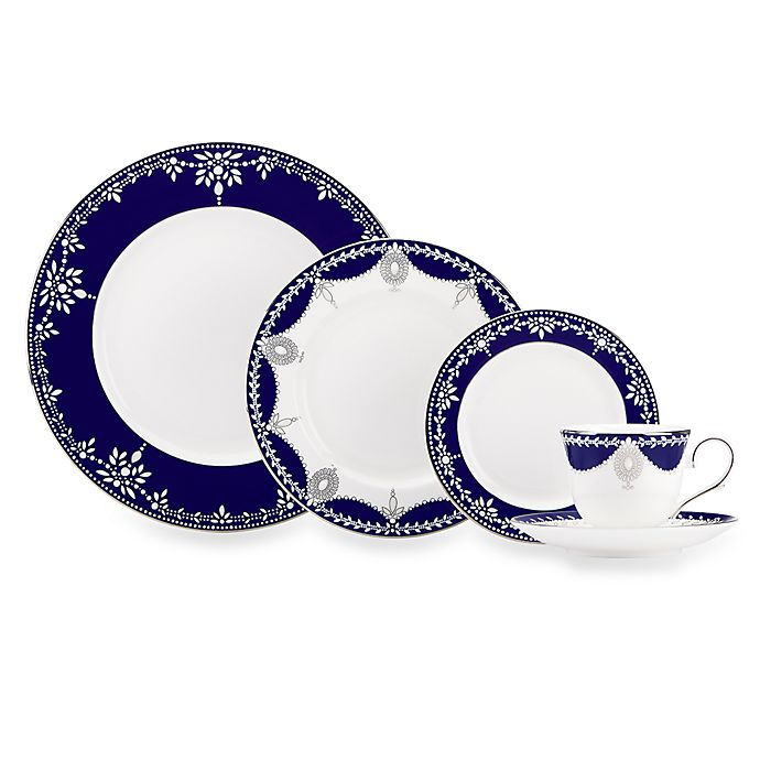 Alternate image 1 for Marchesa by Lenox® Empire Pearl Indigo Dinnerware Collection