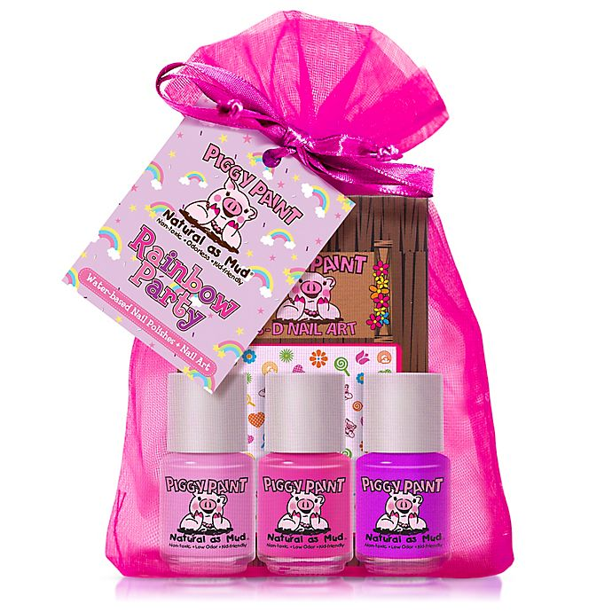 Piggy Paint Rainbow Party 4-Piece Nail Polish Set With