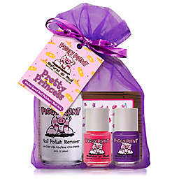 Piggy Paint Pretty Princess 4-Piece Nail Polish Set with Remover and Princess Nail Art