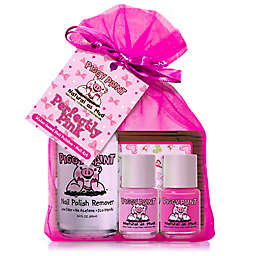 Piggy Paint Perfectly Pink 4-Piece Nail Polish Set with Remover and Heart Nail Art