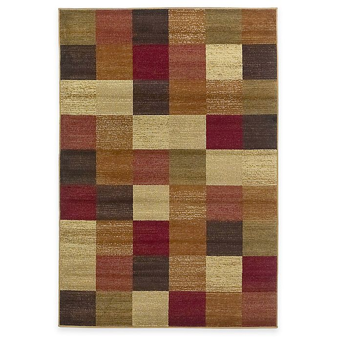 Alternate image 1 for KAS Lifestyles Area Rug in Beige Squares
