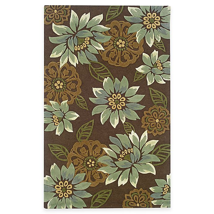 Bed Bath And Beyond Area Rugs Roselawnlutheran Earth Tone: Buy Oriental Weavers Utopia Area Rug In Brown/Blue Blossom