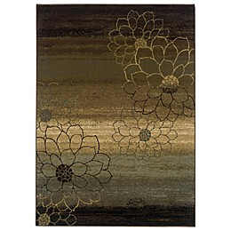 Oriental Weavers Hudson Area Rug in Multi/Dahlia Silhouette