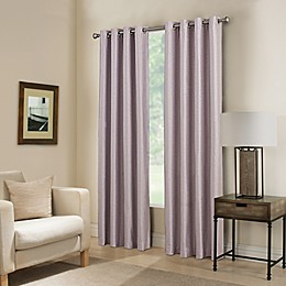 Paradise Room Darkening Grommet Top Window Curtain Panel and Valance