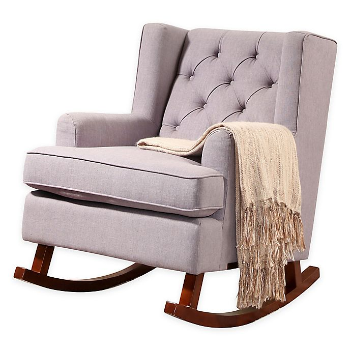 Fabulous Abbyson Living Billy Tufted Fabric Rocker Bed Bath Beyond Pdpeps Interior Chair Design Pdpepsorg