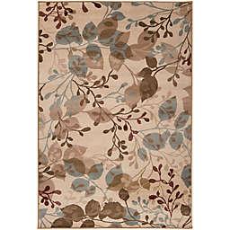 Surya Paramount Floral 5'3 x 7'6 Area Rug in Beige/Sage