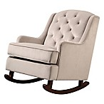 Abbyson Living® Mallory Velvet Rocking Chair in Grey