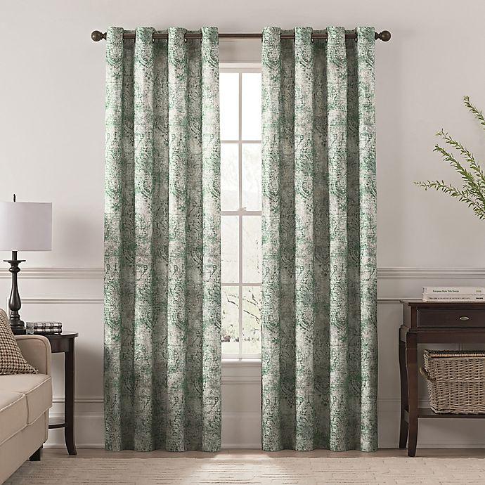 Alternate image 1 for Chantal Printed Grommet Room Darkening Window Curtain Panel