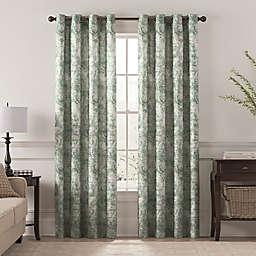 Chantal Printed Grommet Room Darkening Window Curtain Panel