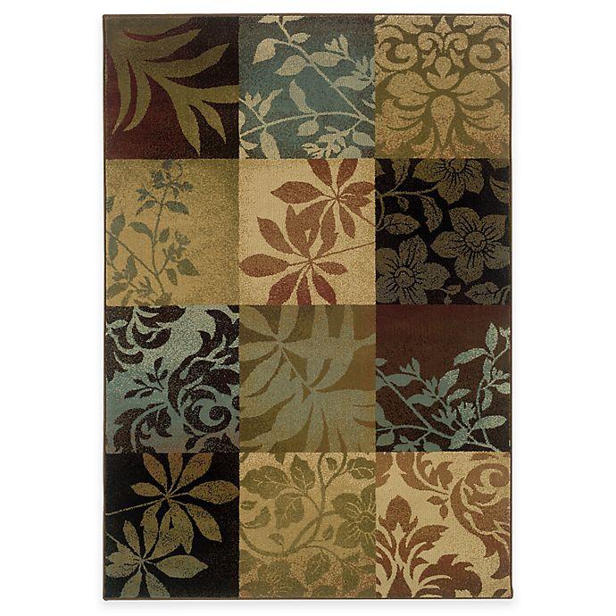 Alternate image 1 for Oriental Weavers Hudson Area Rug in Multi/Floral Squares