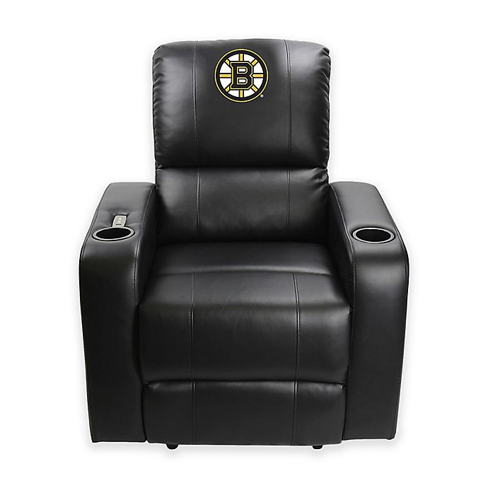 Fantastic Nhl Boston Bruins Power Theater Recliner In Black Bed Bath Caraccident5 Cool Chair Designs And Ideas Caraccident5Info