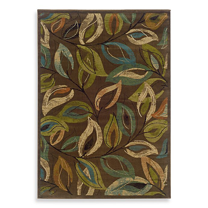 Alternate image 1 for Oriental Weavers Emerson 5-Foot x 7-Inch Area Rug in Multi/Leaves