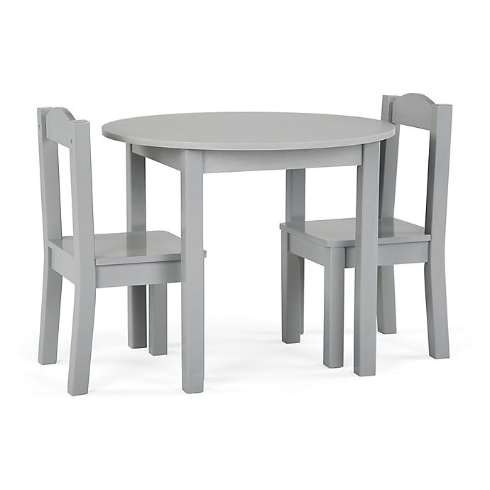 Alternate image 1 for Tot Tutors Inspire 3-Piece Round Table and Chairs Set in Grey