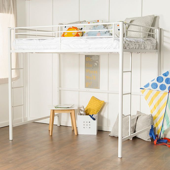 Alternate image 1 for Forest Gate Riley Full Size Metal Loft Bed in White