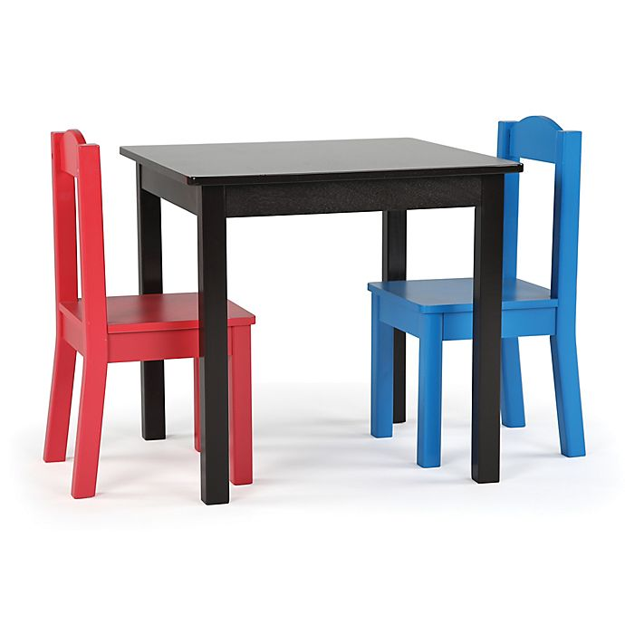 Alternate image 1 for Tot Tutors 3-Piece Square Table and Chairs Set in Espresso/Multi