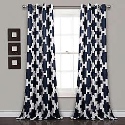 Lush D Eacute Cor Wellow Ikat 84 Inch Grommet Room Darkening Window Curtain